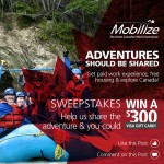 """Mobilize Sweepstakes: """"Adventures should be shared"""""""