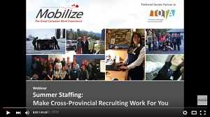 Summer Staffing: Make Cross-Provincial Recruiting Work For You | Recorded Webinar