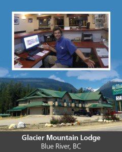 Mobilize worker at Glacier Mountain Lodge