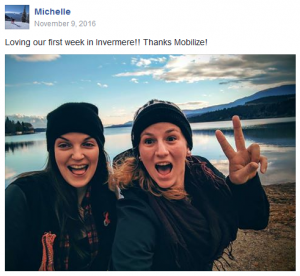 FB post - Michelle in Invermere