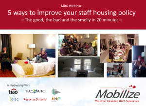 Webinar: 1. 5 ways to improve your staff housing policy