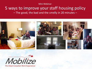 Webinar: 5 ways to improve your staff housing policy