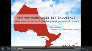 New Fair Workplaces, Better Jobs Act – What Seasonal Tourism & Hospitality Employers Need to Know