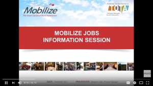 Mobilize Jobs - Information Session for job applicants (recorded video)