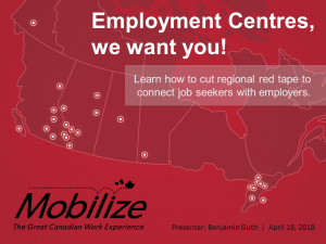 Employment Centres, we want you! Learn how to cut regional red tape to connect job seekers with employers.